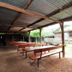 Picnic seating & back of homestead